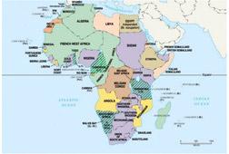 Videk Terkep Egyedulallo Afrika Orszagok Terkep Kulonbozo